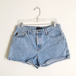 Vintage Guess Light Wash High Rise Jean Shorts